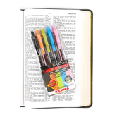 Zebra, Sarasa Bible Underlining Kit, Fine and Medium Point, Assorted Colors, Pack of 5