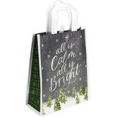 Renewing Faith, All Is Calm All Is Bright Medium Tote Bag