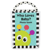 Sassy Developmental Toys, Who Loves Baby Look Book, Vinyl, 5 x 7 1/2 inches, Ages 3 Months & Older