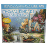 Andrews McMeel Publishing, Thomas Kinkade Special Collectors Edition 2022 Calendar, 13 1/2 x 24 inches