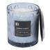 Darsee & David's, Bamboo & Birch Diamond Patterned Jar Candle, Blue, 10 Ounces