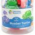 Learning Resources, Snap-n-Learn Number Turtles Set, Multi-Colored, 4.25 x 3 x 1.50 Inches, 15 Pieces, Ages 2-4