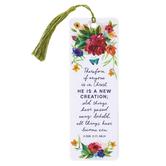 Salt & Light, 2 Corinthians 5:17 New Creation Tassel Bookmark, 2 1/4 x 7 inches