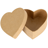 Paper Mache Heart Box Set with Removable Lids, 3 x 1.50-Inches, Value Pack, Grades PreK-Adult
