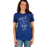 NOTW, In Christ Alone, Short Sleeve Women's T-Shirt, Navy Blue, XS-2XL