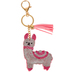 D.M. Merchandising, Olivia Moss, Dazzler Llama Keychain, Pink and Clear, 5 inches