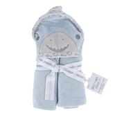 Stephen Joseph, Shark Hooded Bath Towel for Babies, Cotton, Blue, 29 x 29 inches