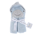 Stephen Joseph, Shark Hooded Bath Towel for Babies, Cotton, Blue, 29 x 29 inches