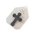 H.J. Sherman, Motorist's Prayer Cross Visor Clip, Pewter Finish, 2 1/2 inches