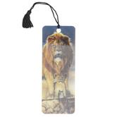 Artgame, Lion and Cub 3D Lenticular Art Tassel Bookmark, 2 1/4 x 6 inches