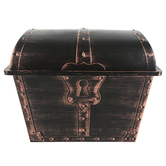 Teacher Created Resources, Treasure Chest, Plastic, Brown, 9 1/2 x 13 x 10 1/4 Inches, 1 Piece