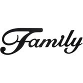 Family Wall Decor, Metal, Black, 5 5/8 x 18 1/4 inches