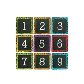Chalk Talk Collection, Calendar Days, 2.5 x 2.5 Inches, Multi-colored, 36 Pieces