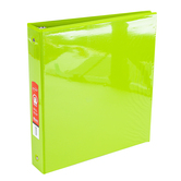Bazic Products, Dual Pocket View Binder, Lime Green, 10 1/4 x 1 1/2 x 11 1/2 inches
