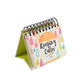 DaySpring, Keeping Calm in a Crazy Busy World Perpetual Calendar, Paper, 5 1/2 x 5 1/4 x 1 1/4 inches