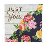 Brother Sister Design Studio, Just For You Floral & Plank Gift Card Box, 4 inches