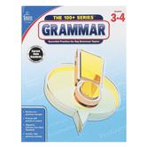 Carson-Dellosa, The 100 plus Series Grammar Workbook, Reproducible, 128 Pages, Grades 3-4