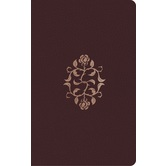 ESV Large Print Personal Size Bible, Bonded Leather, Burgundy, Rose of Sharon Design