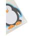 Carson-Dellosa, Penguin Shaped Notepad, 5.50 x 6.25 Inches, Black, White & Blue, 50 Sheets