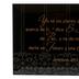 Dexsa, Jeremiah 29:11 Table Plaque (Spanish), Glass, Black/White, 6 x 4 Inches