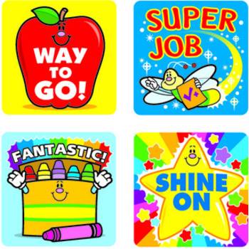 Carson Dellosa, Winning Words Motivational Stickers, 1 x 1 Inch, Multi-Colored, Pack of 120