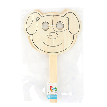 Playside Creations, Wood Mask-Dog/Cat, Natural, 2 Count