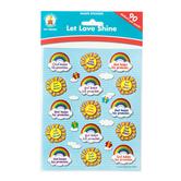 Carson-Dellosa, Let Love Shine Shape Stickers, 1 x 1 Inch, Multi-Colored, Pack of 90