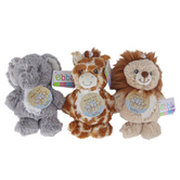 Ebba, Noah's Ark Plush Rattle Toy, Assorted Designs, 6 inches
