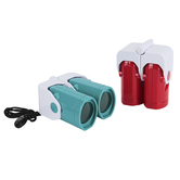 Toysmith, Folding Binoculars with Strap, 3X View, Red or Blue, 2.50 x 1.50 x 3 inches, Ages 5-10