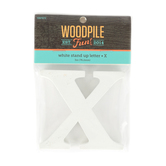 Woodpile Fun, Stand Alone Letter-X, White, 3 Inches, 1 Piece