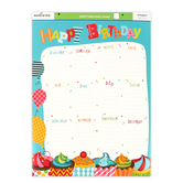 Renewing Minds, Customizable Happy Birthday Chart, Cupcakes, 17 x 22 inches, Vertical, 1 Each