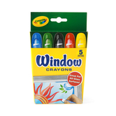 Crayola Window Crayons, Assorted Colors, 5 Count