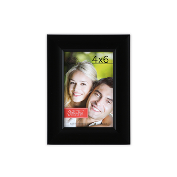 Plastic Expression Scoop Photo Frame, Black, 4 x 6 inches