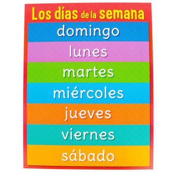 Creative Teaching Press, Los Dias De La Semana Chart, Spanish, Days Of The Weeks, 17 x 22-Inch