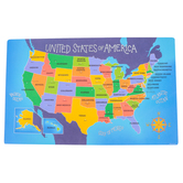 The Brainery, USA Map Pad, Labeled, Paper, 16 x 10 Inches, Multi-Colored, 30 Sheets, Grades K-Adult