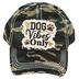 K&B Trading, Dog Vibes Only, Vintage Adjustable Cap, Green Camo