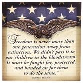 Ronald Reagan Freedom Quote Canvas Art, 10 x 10 inches