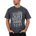 Red Letter 9, Stand For The Flag Kneel At The Cross, Men's Short Sleeve T-Shirt, Black Heather, Small