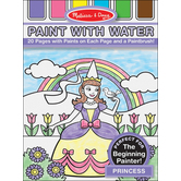 Melissa & Doug, Paint with Water Art Pad Princess, Paperback, Ages 3-5, 20 Pages