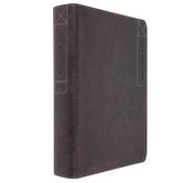 NLT Every Man's Large Print Bible, Imitation Leather, Rustic Brown