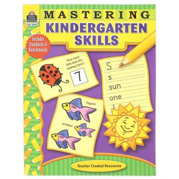 Teacher Created Resources, Mastering Kindergarten Skills Activity Workbook, 240 Pages, Grade K