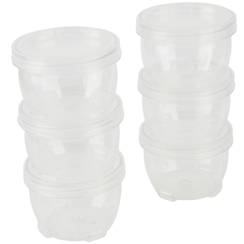 Playside Creations, Interlocking Containers, 8 Ounces, Clear, 6 Count