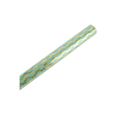 Brother Sister Design Studio, Gift Wrap Roll, Mint Green with Gold Lattice, 50 square feet