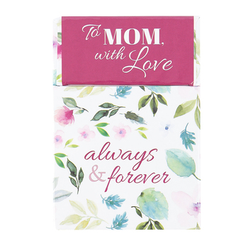 Christian Art Gifts, To Mom With Love Always & Forever Box of Blessings, 2 1/2 x 1 x 3 3/4   inches, 50 cards