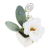 His & Hers, Flower Pot Photo Clip or Place Card Holder, 6 x 4 x 3 1/2 inches