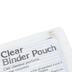 Charles Leonard, Clear Binder Pencil Pouch, Vinyl with Ziploc, 10 x 7 Inches