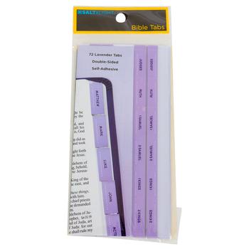 Salt & Light, Bible Tabs, Lavender, 72 Tabs