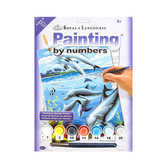 Royal & Langnickel, Painting by Numbers-Dolphins, Ages 8 Years and Older, 10 Pieces