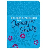 Prayers & Promises for Depression and Anxiety, by BroadStreet, Imitation Leather, Blue