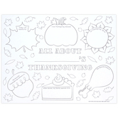 Brother Sister Design Studio, All About Thanksgiving Coloring Sheets, Set of 24